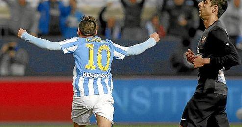 Horta celebra un gol ante el Levante.