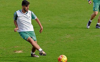 Dani Ceballos, en un entrenamiento.