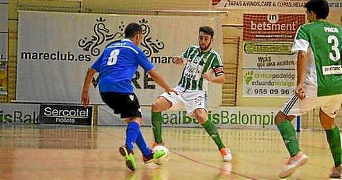 Lance del partido entre el Real Betis FSN y el Melilla.