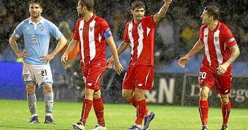Banega acab� con el sufrimiento sevillista en Vigo con su primer tanto en esta Copa del Rey.