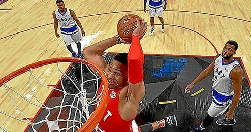Westbrook fue nombrado MVP del Partido de las Estrellas.