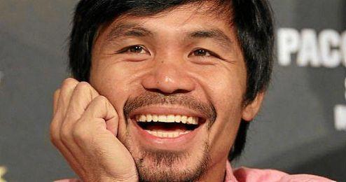 En la imagen, el boxeador filipino Manny Pacquiao.