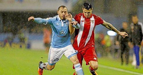 Vitolo, en un lance del partido de Copa ante el Celta.