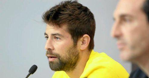 En la imagen, el capitán Coke Andújar en sala de prensa.