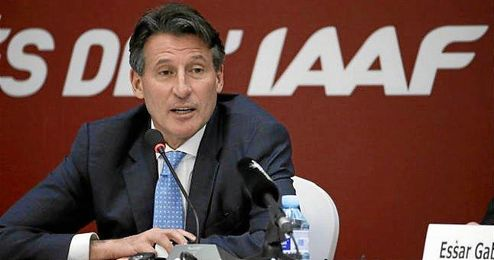 En la imagen, el presidente de la IAAF, Sebastian Coe.