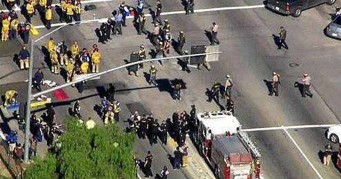 Imagen aérea del lugar del tiroteo de San Bernardino, EEUU.