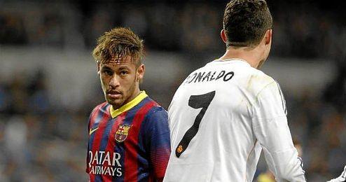 Neymar y Cristiano, en un Cl�sico entre Madrid y Bar�a.