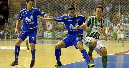 Imagen del partido de copa que enfrentó en San Pablo al Real Betis FSN y al Inter Movistar.