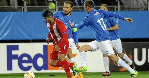 Imagen del partido en el Aker Stadion.
