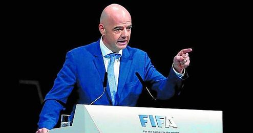Gianni Infantino ejerce como noveno presidente de la FIFA.