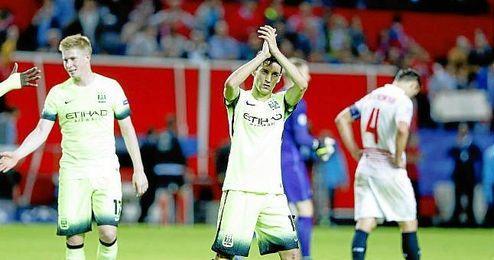 Jes�s Navas, en el partido contra el Sevilla de esta temporada.