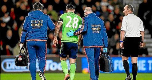 Austin se marchó lesionado ante el Bournemouth.