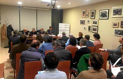 En la imagen, la presentación de VI Circuito Solidario de tenis y pádel Banco de Alimentos de Sevilla