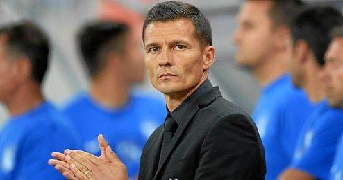 En la imagen, el entrenador del Espanyol, Constantin Galca.
