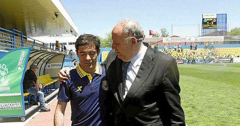 En la imagen, Marcelino y Llaneza.