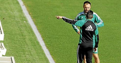 Heiko Westermann, en un entrenamiento del Betis.