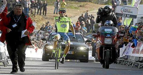 Contador, durante la Vuelta al Algarve.