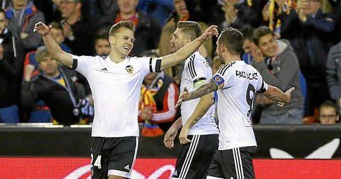 En la imagen, Cheryshev celebrando el tanto ante el Atl�tico de Madrid.