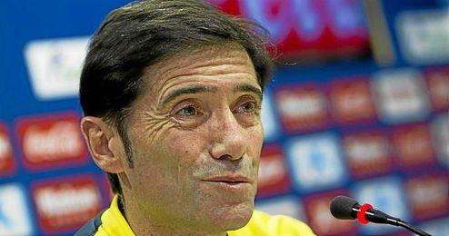 En la imagen, el entrenador del �submarino amarillo�, Marcelino Garc�a Toral.