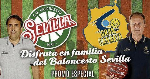 Imagen del cartel de la promoci�n del partido ante el Gran Canaria.