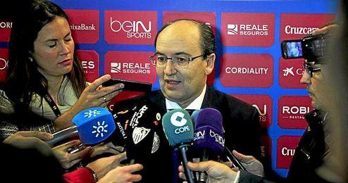 José Castro, durante una comparecencia ante los medios.