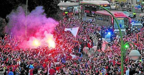 Imagen de archivo de la afición del Sevilla FC.