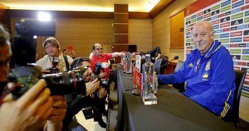Vicente del Bosque en rueda de prensa.