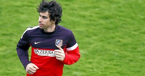 Tiago, durante un entrenamiento.