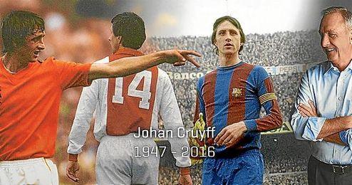 Johan Cruyff ha fallecido a los 68 años de edad.