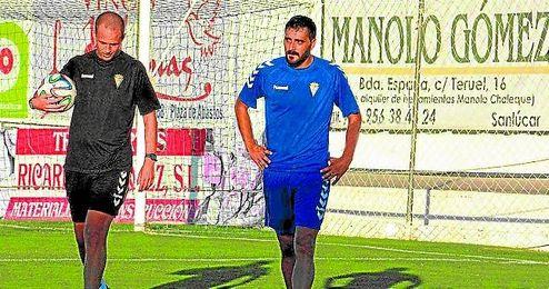 Rubén Domínguez junto a Dani Güiza.