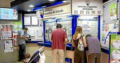 Imagen de una administración de lotería.