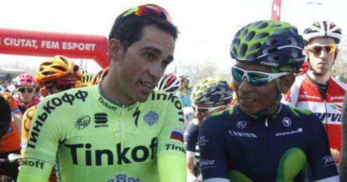 Contador y Quintana lucha por la carrera.