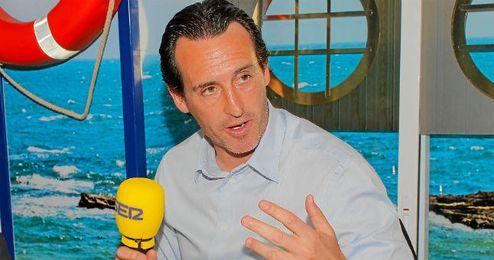 """Emery afronta las tres competiciones con """"ambición""""."""