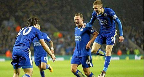 El Leicester, l�der de la Premier League.