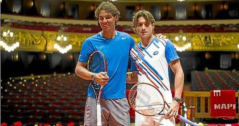 Nadal y Ferrer en el torneo Conde de God�