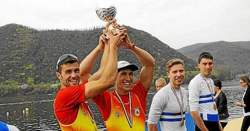 En la imagen, Álvaro junto a su compañero Ramón Gómez en la modalidad de dos sin timonel peso ligero.