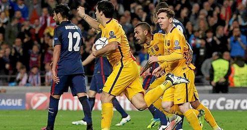 Luis Su�rez anot� los dos goles del Barcelona.
