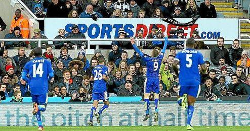 La ciudad de Leicester está disfrutando de su equipo.