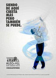El Legan�s homenajea a Javier Fern�ndez en su �ltimo cartel.