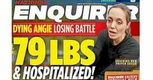 Publican que Angelina Jolie pesa 36 kilos y que está hospitalizada