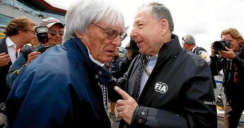 En la imagen, Bernie Ecclestone y Jean Todt.