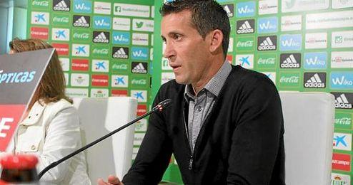 Juan Merino, en sala de prensa.