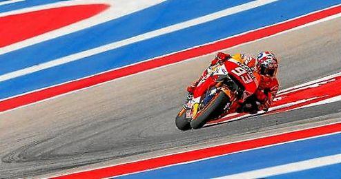 Marquez voló en el circuito de Austin.