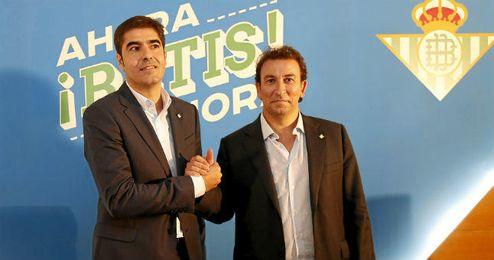 Ángel Haro, con José Miguel López Catalán.