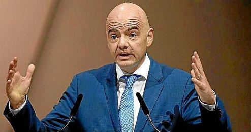 En la imagen, el Presidente de la FIFA, Gianni Infantino.