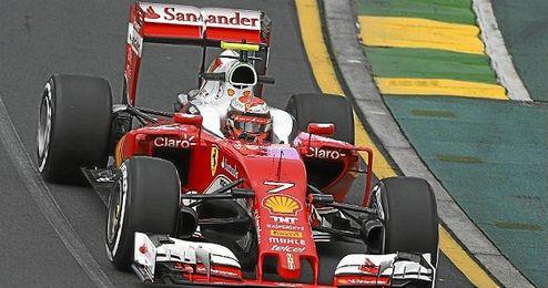 En la imagen, el Ferrari de Kimi Räikkönen.