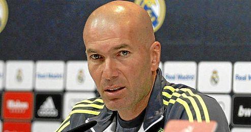 Zidane en rueda de prensa.