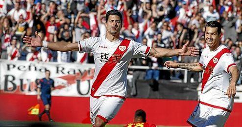 Guerra celebra su gol ante el Villarreal