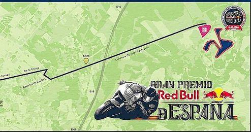 Mapa con el recorrido del convoy