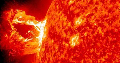 Llamarada solar.